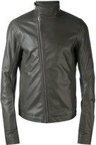Rick Owens asymmetric zip biker jacket