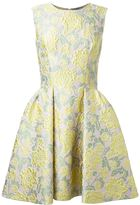Ermanno Scervino floral brocade pleated dress