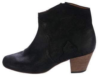 Isabel Marant Suede Dicker Ankle Boots