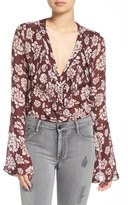Band of Gypsies Women's 'Romantic' Floral Print Bodysuit