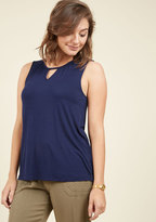 All for a Good Cosmopolitan Tank Top in Navy in 4X
