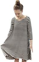 Norbi Parent-Child Striped Shirt Dress Family Clothes Outfits
