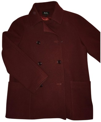 A.P.C. Red Wool Coats