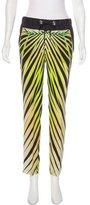 Roberto Cavalli Silk High-Rise Pants