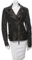 Roberto Cavalli Textured Leather Jacket w/ Tags