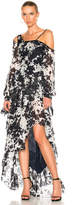 Jonathan Simkhai Silk Tie Dye One Shoulder Gown