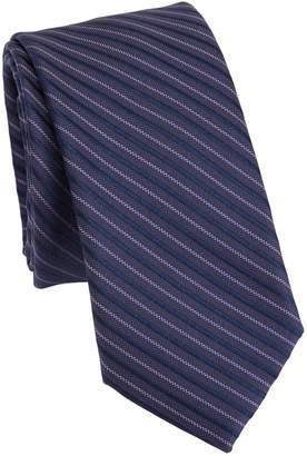 Saks Fifth Avenue MODERN Diagonal Stripes Silk Tie