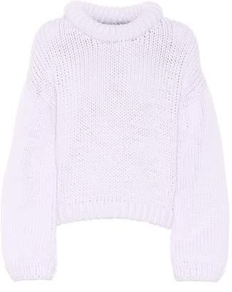 Tibi Cotton-blend cropped sweater