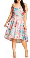 City Chic Plus Size Women's Glass Floral Fit & Flare Dress