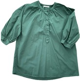 Sessun Green Cotton Top for Women