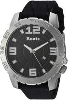 Roots Men's 'Core' Quartz Stainless Steel and Canvas Casual Watch, Color: (Model: 1R-LF600BA6B)