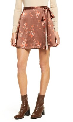 Reformation Simi Silk Miniskirt