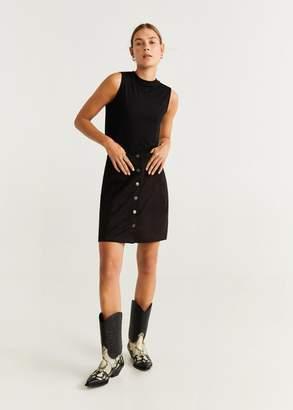 MANGO Buttoned miniskirt medium brown - XXS - Women