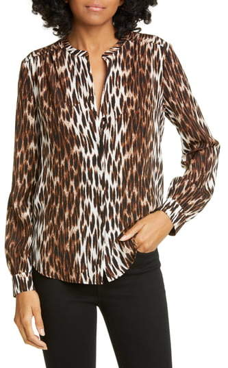 dd728c39 Banded Collar Blouse - ShopStyle