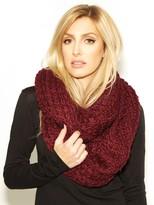 Paula Bianco Chunky Knit Infinity Scarf in Tawny Port
