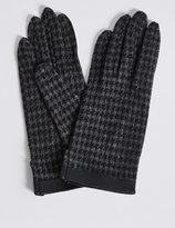 M&S Collection Houndstooth Gloves with Cuff