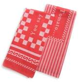 Mackenzie Childs MacKenzie-Childs You Say Tomato Dish Towels/Set of 2