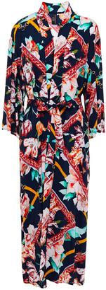 Jets Floral-print Voile Kimono