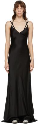 Haider Ackermann Black Silk Dali Long Dress