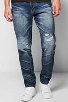 Boohoo Tapered Leg Slim Fit Abraised Knee Jeans