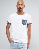 Bellfield T-Shirt with Geometric Print Pocket