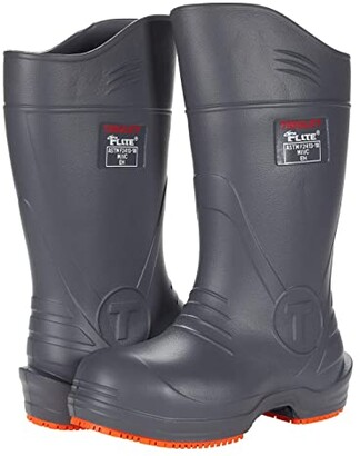 Tingley Overshoes Flite Safety Toe 15 Knee Boot (Grey Upper/Orange Outsole) Boots