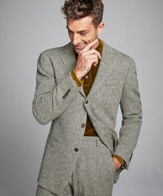 Todd Snyder Herringbone Sack Suit Jacket