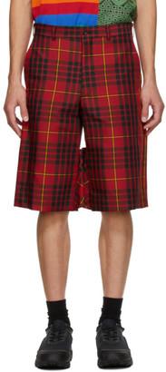 Comme des Garçons Homme Plus Red Tartan Shorts