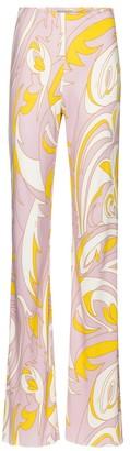 Emilio Pucci Printed wide-leg jersey pants