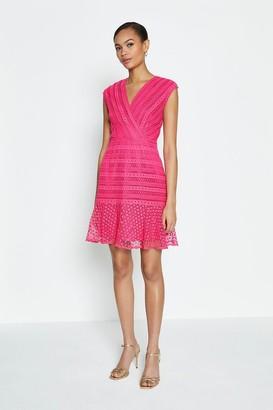 Coast Lace Frill Hem Wrap Dress