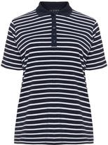 Jette Joop Plus Size Striped jersey polo shirt