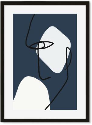 H&M Navy s Line Art Print
