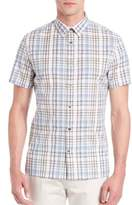 Vince Slim Fit Melrose Plaid Shirt