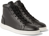 Balenciaga - Full-grain Leather High-top Sneakers