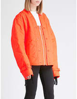 Helmut Lang Square-neck quilted shell jacket