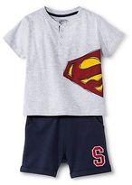 Superman Baby Boys' Top and Bottom Set - Gray
