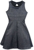 Rare Editions Metallic Jacquard Dress, Big Girls (7-16)