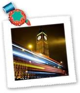 3dRose LLC qs_82746_1 Danita Delimont - London - London, Big Ben, Houses of Parliament, Red bus - EU33 DSL0003 - David Slater - Quilt Squares
