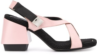 Premiata Chunky-Heel Touch-Strap Sandals