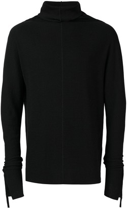Cedric Jacquemyn Side Taped Turtleneck Sweater