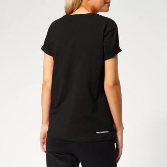 Karl Lagerfeld Paris Women's Ikonik & Choupette Pocket T-Shirt