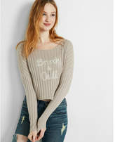 Express brunch and chill cropped sweater