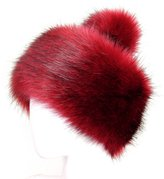 Futrzane Faux Fox Fur Winter Tatars Hat for Women Trapper Ski