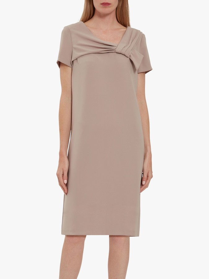 Gina Bacconi Nilsa Crepe Bow Dress