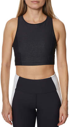 Betsey Johnson Sparkle Sports Bra Crop Top