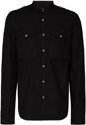 Balmain Long-Sleeve Cotton Shirt