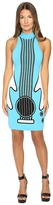 Jeremy Scott Intarsia Knit Guitar Dress Women's Dress