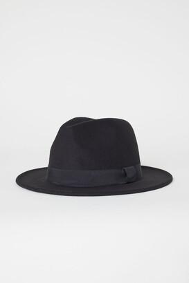H&M Felted Hat - Black