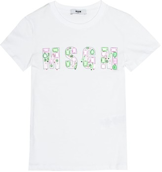 MSGM Kids Embellished cotton T-shirt