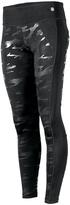 Therapy Black & Silver Camo Knee Mesh-Panel Performance Leggings - Plus